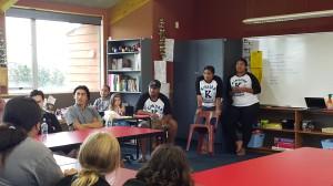 Kimiora Training at Te Kura o Kokohuia , Whanganui 2017